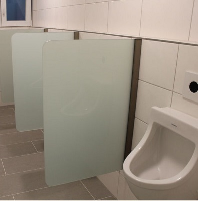 urinal trennwand schamwand wandh ngend 400 mm x 900 mm wc echtglas ebay. Black Bedroom Furniture Sets. Home Design Ideas