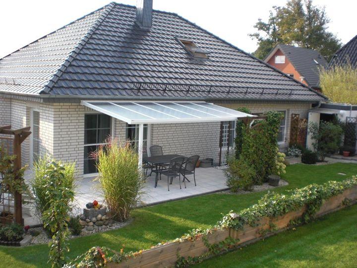 terrassen berdachung alu glasvordach f r vsg 3m breit x. Black Bedroom Furniture Sets. Home Design Ideas