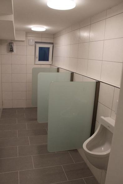 Urinal echtglas trennwand schamwand wandh ngend 400 mm x 900 mm ebay - Was ist eine schamwand ...
