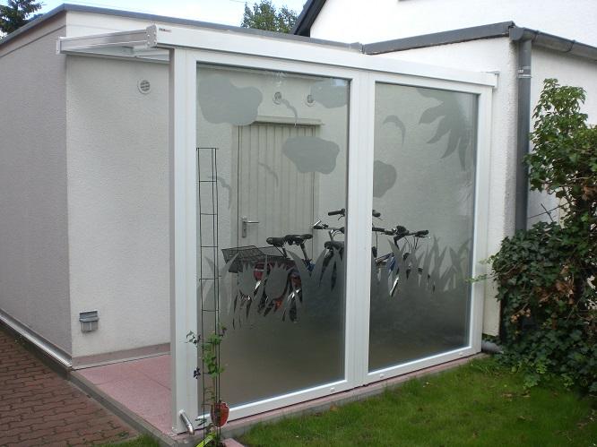Terrassenüberdachung Alu Glasvordach für VSG 3m breit x